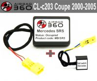 Mercedes CL C 203 coupe   Front  Passenger Seat mat Occupancy Sensor, occupied recognition sensor  emulator / bypass